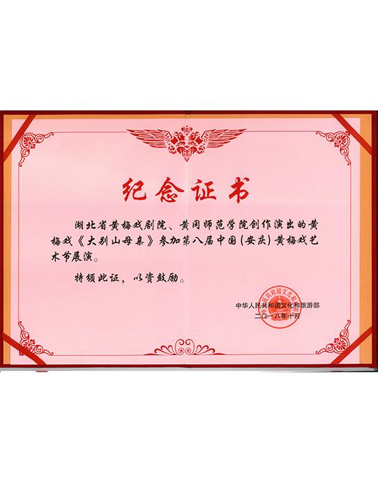 《大别山母亲》参加第八届中国(安庆)黄梅戏艺术节展演