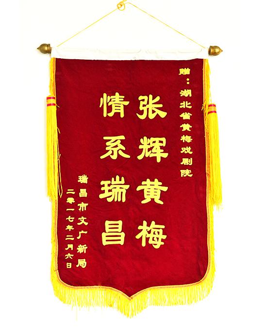 瑞昌市文广新局颁发的锦旗